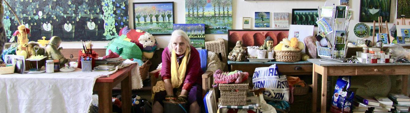 Foto: Ilona beim Handabformen