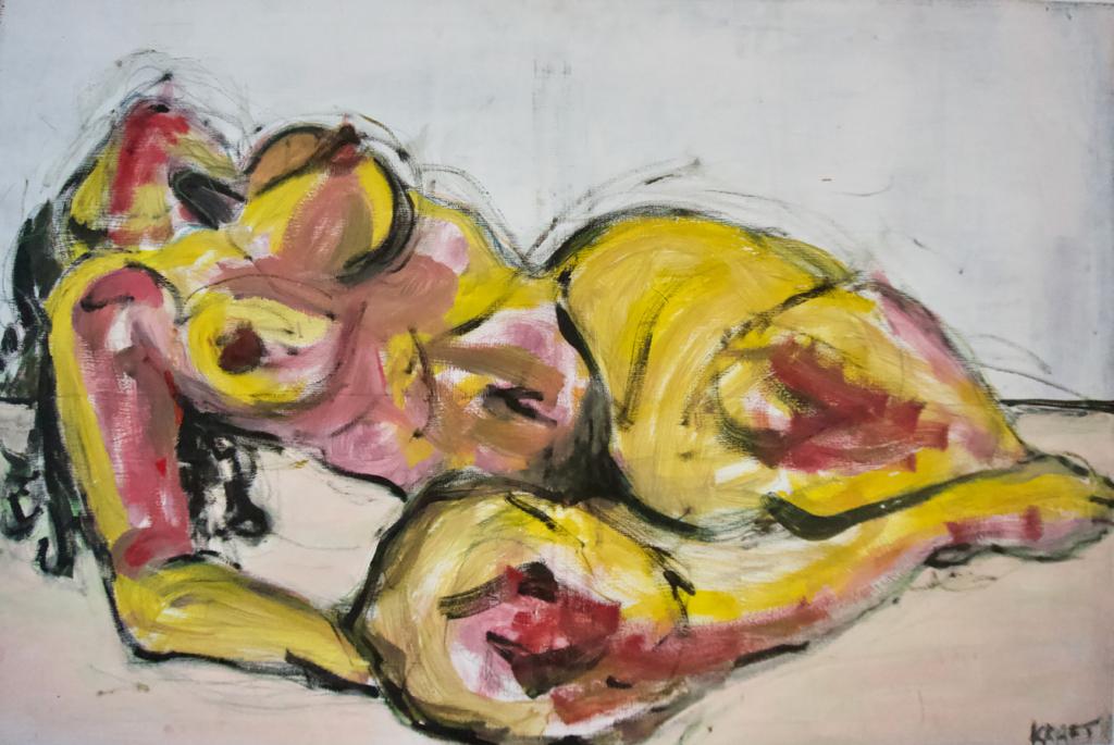 Foto des Gemäldes »Aktstudie«