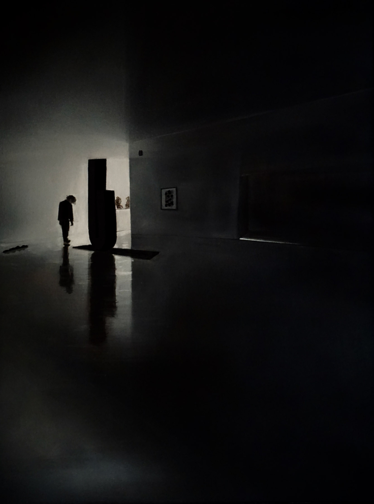 Foto des Gemäldes »Museumsbesuch bei Wolkenbruch«