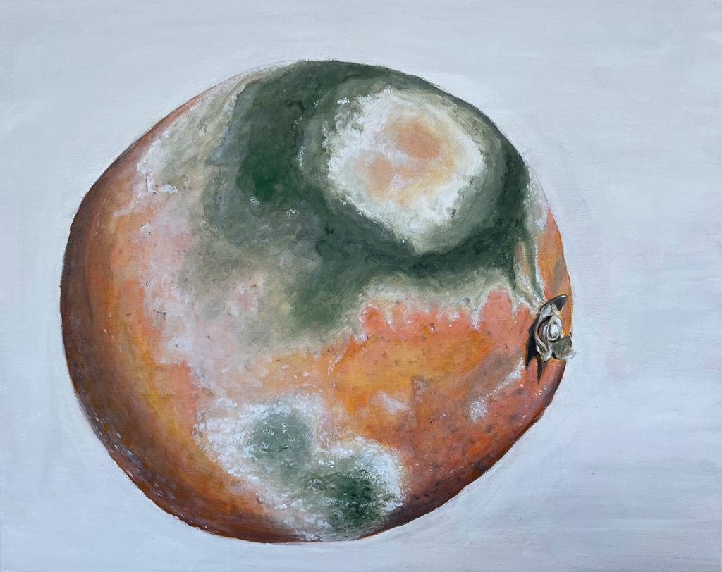 Gemälde: verschimmelte Orange