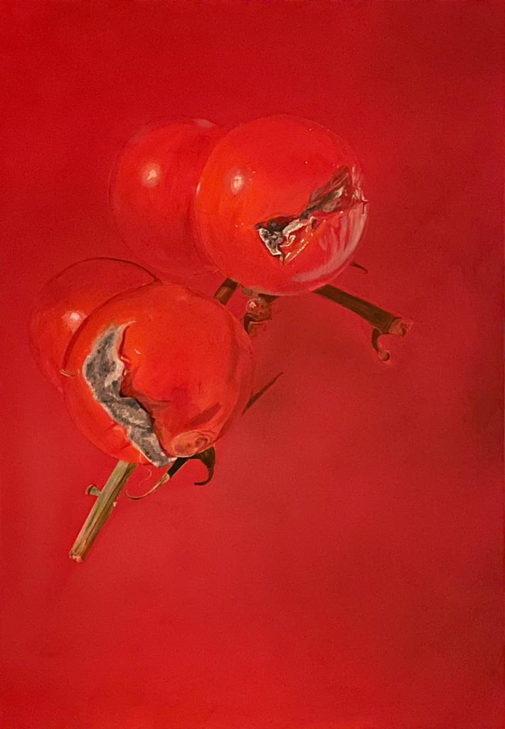 Gemälde: Schimmelige Tomaten