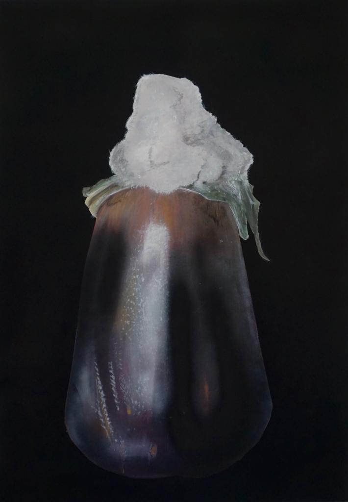 Gemälde: Verschimmelte Aubergine